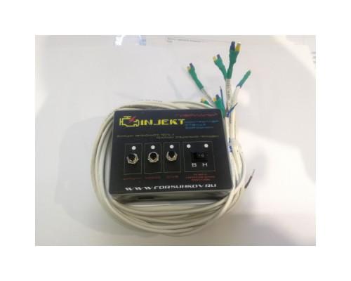 Контроллер полуавтономный гибридный для стенда на 4 форсунки