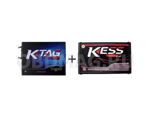 K-TAG Master SW 2.23 HW 7.020 + Kess  Ksuite 2.47 Красная плата