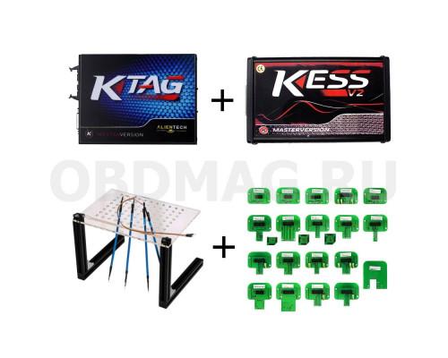 Комплект K-TAG  2.23 + Kess 2.47 + адаптеры 22 шт + BDM стол