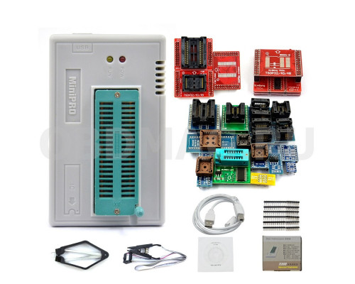 Программатор MiniPro TL866 II PLUS с полным набором адаптеров