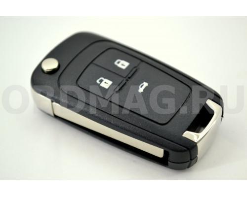 Ключ выкидной Chevrolet Cruze 3 кнопки HU100