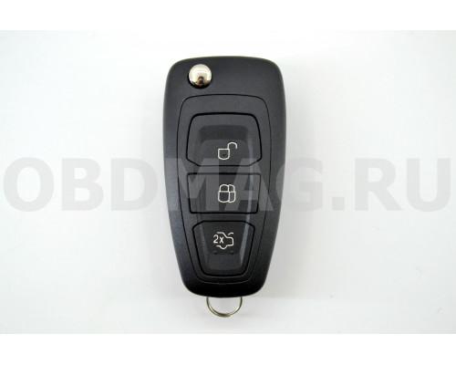 Ford Focus 3, Fiesta, Сonnect, Mondeo корпус выкидного ключа 3 кнопки