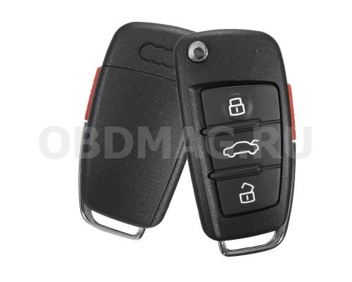 """Ключ выкидной Audi A4 A6 Q3 Q5 Q7 3 кнопки """"банан"""""""