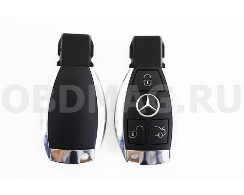 Корпус смарт ключ Mercedes 3 кнопки с крышкой под батарейку
